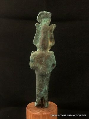 Ancient Egyptian Bronze Statue Of God Osiris! God Of Fertility!!! 4