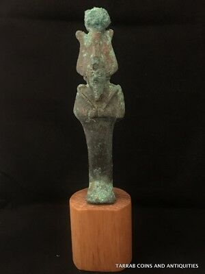 Ancient Egyptian Bronze Statue Of God Osiris! God Of Fertility!!! 2