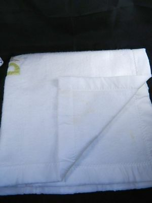 "Quiltex White Baby Blanket Acrylic Trim BABY APPLIQUE 39"" x 43"" 2"