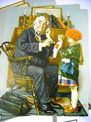 Vintage Norman Rockwell Print Doctor Doll Kathe Kruse Lenci Old