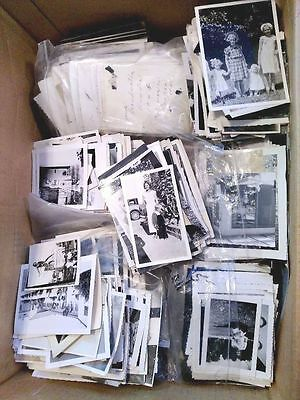 Lot of 100 Original B&W Found Old Photos Vintage Snapshots