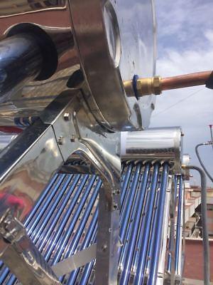 PANNELLO SOLARE TERMICO ACQUA CALDA SERBATOIO INOX 200 Litri  20 TUBI ACCESSORI 6