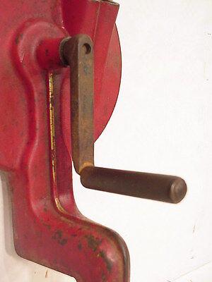 Antique Dutch GEKA Red Cast Iron Double Load Bean Slicer