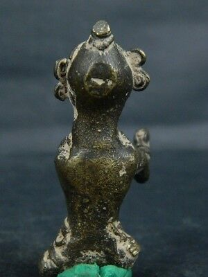 Antique Brass Figure Hindu 1800 AD No Reserve #BR6427 8