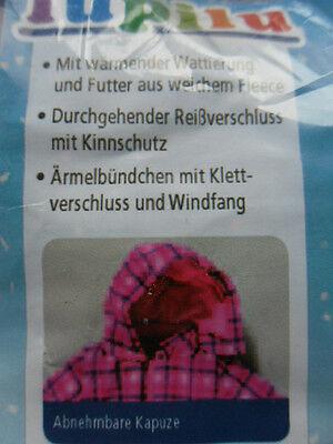 Mädchen Winter Overall * Schneeanzug *62/68 * Rosa Kariert*Kapuze*lupilu*Neu 2