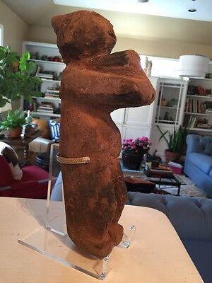 Ancient antique CHONTAL or Mezcala STONE CARVING of figure * Guerrero region 7
