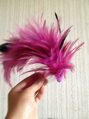 plum pink purple feather comb fascinator millinery wedding hat hair piece ascot 3