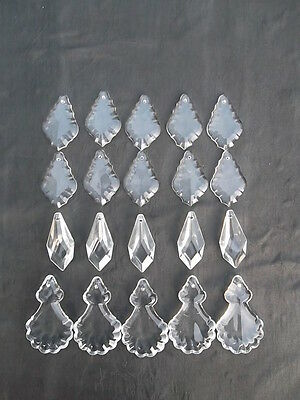 A mixture of 20 pretty glass   chandelier drops(D51224) 2