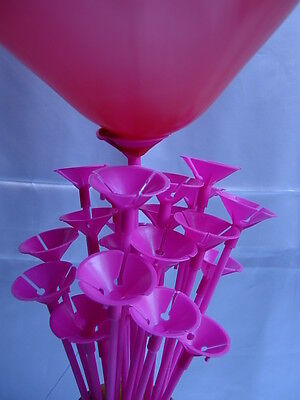 Party Balloon Sticks and Cups No Helium Choose 7 Colour & Quantity Birthday 5