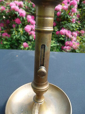unusual  vintage French brass candlestick (C86)********************** 5