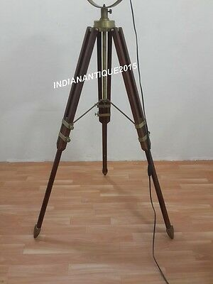 Hollywood nautical antique brass searchlight floor lamp spot light 3 of 4 hollywood nautical antique brass searchlight floor lamp spot light tripod stand aloadofball Gallery