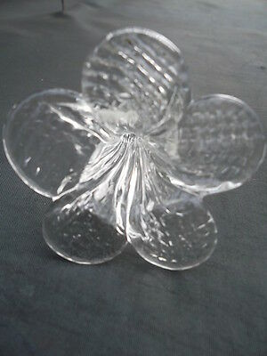 rare pretty and unusual handmade clear  glass flower chandelier drop(8488) 5
