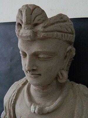 Ancient Huge Size Stucco Sitting Bodhasattva Gandhara/Gandharan 200 AD  #IK846 10