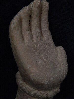 Ancient Stone Bodhasattva Hand Gandhara/Gandharan 100 AD #STN639 4