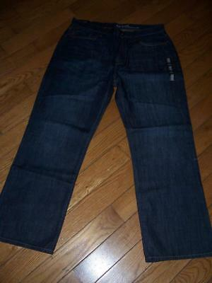 Men's Nwt Gap Relaxed Coupe Decontractee Dark Denim Jeans Size 36 X 30 2