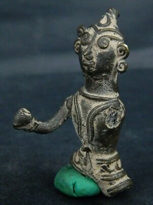 Antique Brass Figure Hindu 1800 AD No Reserve #BR6427 6