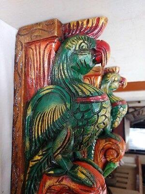 Hand carved Eagle Wooden Wall Corbel Bracket Pair Bird Sculpture Art Decor Rare 8