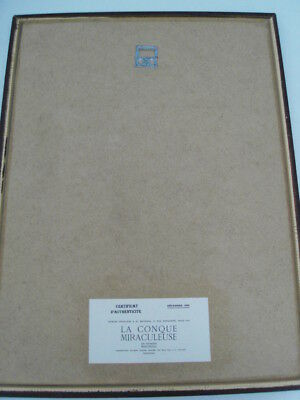 """GLEIZES Albert -BOIS GRAVE TIRAGE 1921""""COMPOSITION CUBISTE/SCÈNE AQUATIQUE"""" AGL8 6"""
