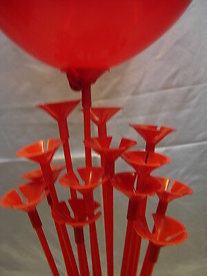 Party Balloon Sticks and Cups No Helium Choose 7 Colour & Quantity Birthday 2