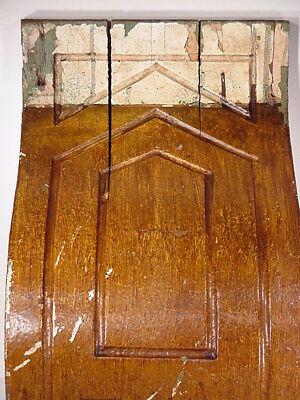 Antique Sconce Hand Carved Architectural Wood Bracket Art Deco Corbel Pediment 8