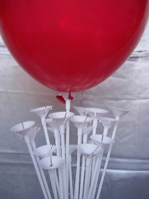 Party Balloon Sticks and Cups No Helium Choose 7 Colour & Quantity Birthday 3