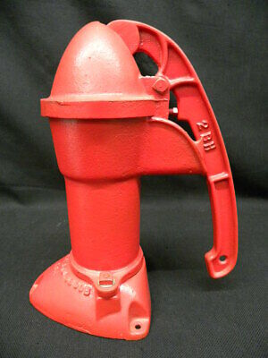 """Vintage Cast Iron Red 13"""" Hand Pump Art. No. Std. 3800B 2BE Shell Only 5"""