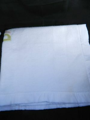 "Quiltex White Baby Blanket Acrylic Trim BABY APPLIQUE 39"" x 43"" 3"