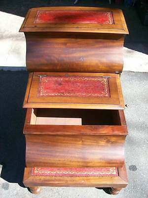 Antique Set Victorian Library / Bed Steps c.1870 3