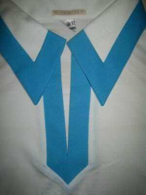 T-Shirt Oberteil Shirt weiß blau alter Lagerfund 70er TRUE VINTAGE 70s NOS