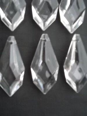10 pretty large glass spear chandelier drops (D8686) 2