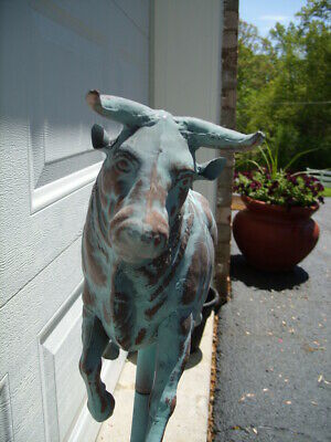 Bull 3D Steer Weathervane Antiqued Copper Finish Cow Weather Vane Hand Crafted 5