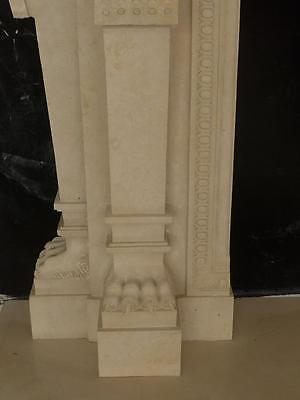 Large Estate Hand Carved Fireplace Mantel - Fireplace Mantel - Monumental Mantel 7