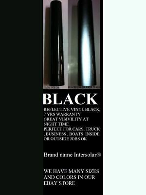 "24"" x 25ft  Black  Reflective Vinyl Adhesive Cutter Sign Hight Reflectivity 3"