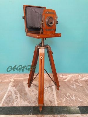 Antike Falten-Kamera mit Holz Stativ Startseite Dekorative