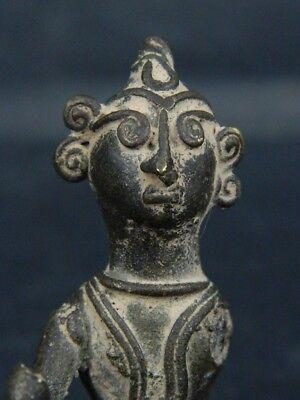 Antique Brass Figure Hindu 1800 AD #BR6427 2
