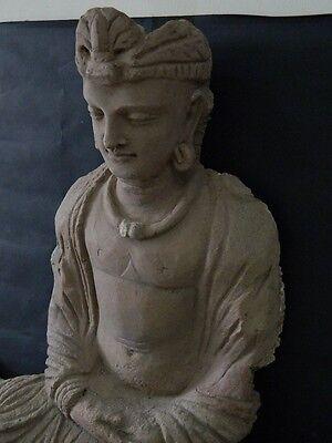 Ancient Huge Size Stucco Sitting Bodhasattva Gandhara/Gandharan 200 AD  #IK846 9