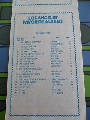 93/KHJ SEPTEMBER 19 1978 Boss SURVEY #685 GREASE CD & REAL DON STEELE MAGNET 6