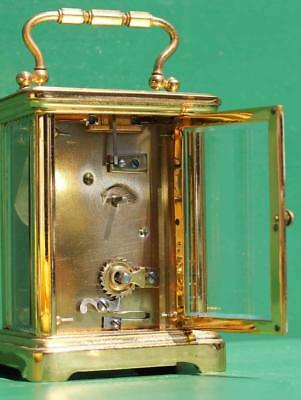 Antique French Couaillet Freres 8 Day Time Piece Corniche Carriage Clock 7