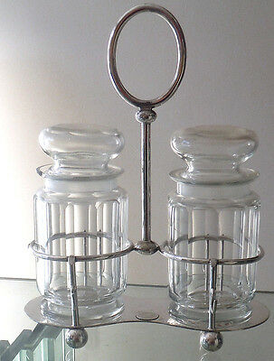 Victorian Sheffield Silver Plated Double Pickle Stand - Dixons