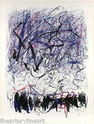 JOAN MITCHELL 'Bedford III' 1981 SIGNED Lithograph Limited Edition Print Framed 9