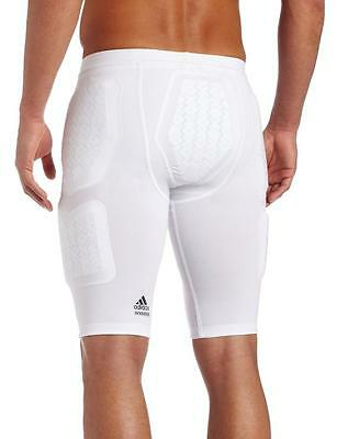 ... NWT Adidas Techfit CLIMACOOL Men s 5-Pad Padded Compression Shorts -  White 2 09a11da68