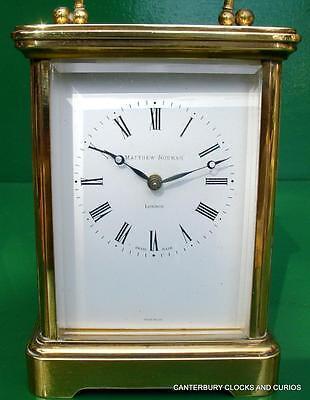 Matthew Norman Grande Corniche Vintage Swiss 8 Day Timepiece Carriage Clock 2