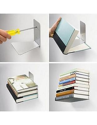 UMBRA CONCEAL SHELF Small Silver Mensola A Scomparsa Libreria Invisibile 13  Cm