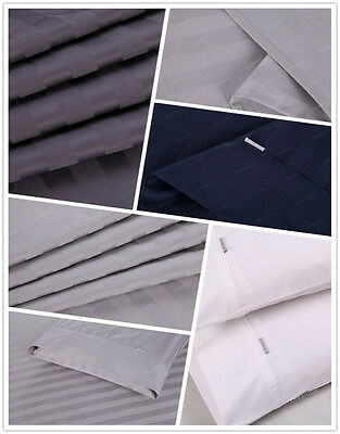 1000TC Egyptian Cotton Double,Queen or King Size Bed Sheet Set (Stripe).4 Pieces 4