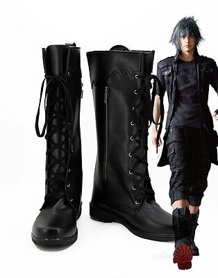 NEW Final Fantasy 15 FF15 Noctis Lucis Cosplay Shoes Boots Custom Made Z.49