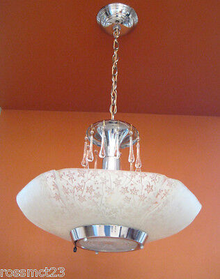 Vintage Lighting four matching Mid Century Modern chandeliers 2