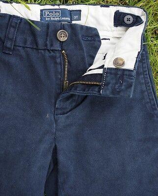 Polo Ralph Lauren Navy Boys Chino Jeans Elastic Adjustable Waist Age 18 Months 2