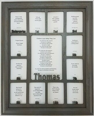 SCHOOL YEARS PICTURE Frame - Personalized Name - School Photo Frame ...