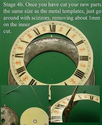 Buyers Ref:U,  Replacement laminate Ivory  Vienna Regulator Clock Dial option 19 5