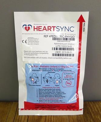 Étui de 10 Physio Contrôle Heartsync Adulte & 10 Pédiatrique Lifepak Électrodes 7